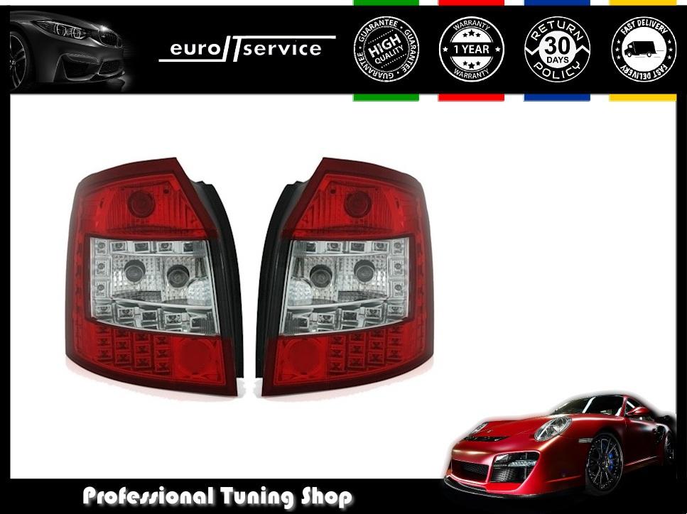 SET-REAR-LIGHTS-LED-VT373-AUDI-A4-8E-B6-AVANT-ESTATE-2001-2004-RED